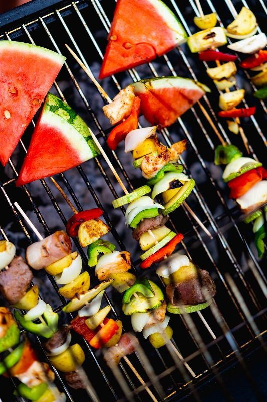 Grilled Fruit & veggies